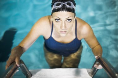 willis towers watson, woman in pool, healthy, fitness