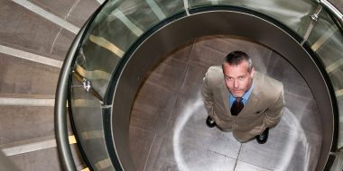 Willis towers watson, staircase, man looking up